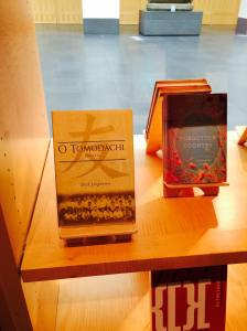 Copy of book is on the shelves at an Asian Art Museum in San Francisco.